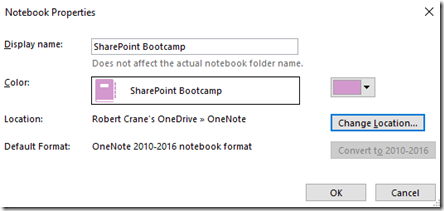 Moving OneNote notebooks to OneDrive – CIAOPS