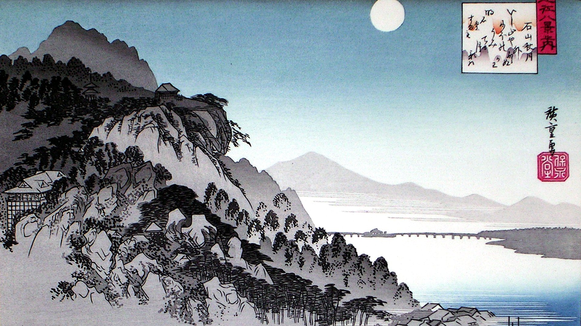 Ando Hiroshige Wallpaper Painting
