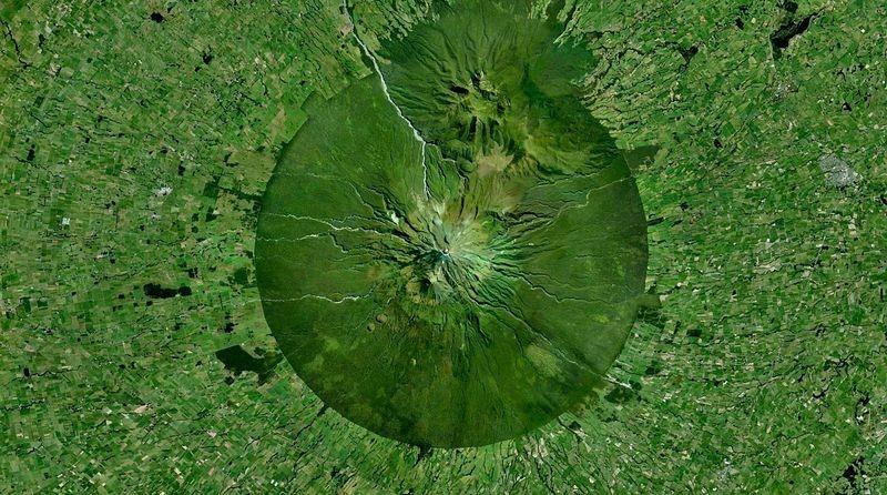 Monte Taranaki e o Parque Nacional de Egmont
