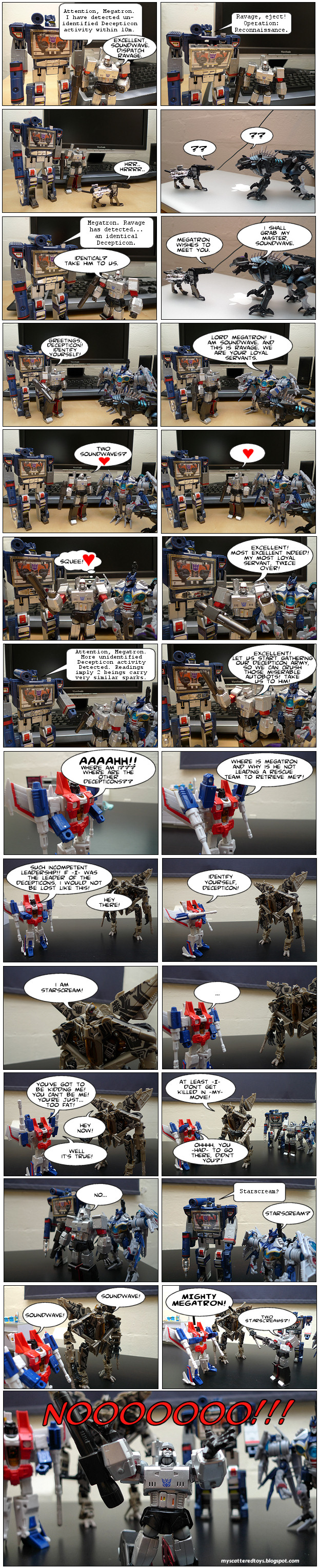two good two be true - my toys are alive 08 transformers fan comic megatron soundwave starscream ravage
