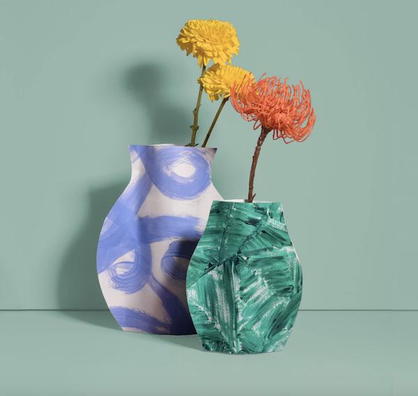 diy paper flower vase