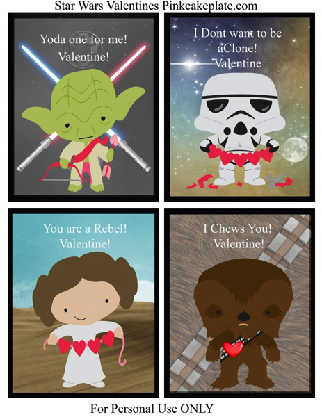Star Wars Printable School Valentine
