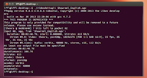 script info sui video via FFMpeg in Ubuntu Linux