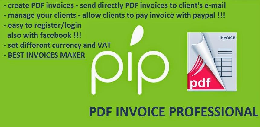PDFInvoice Online Generator PRO - Google+ - pdf invoice maker
