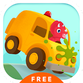 Dinosaur Car Painting Free