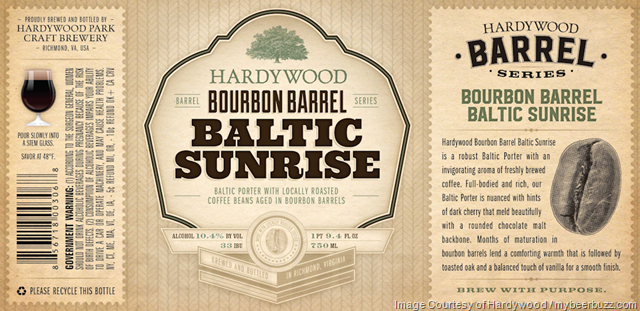 Hardywood Adding Bourbon Barrel Baltic Sunrise