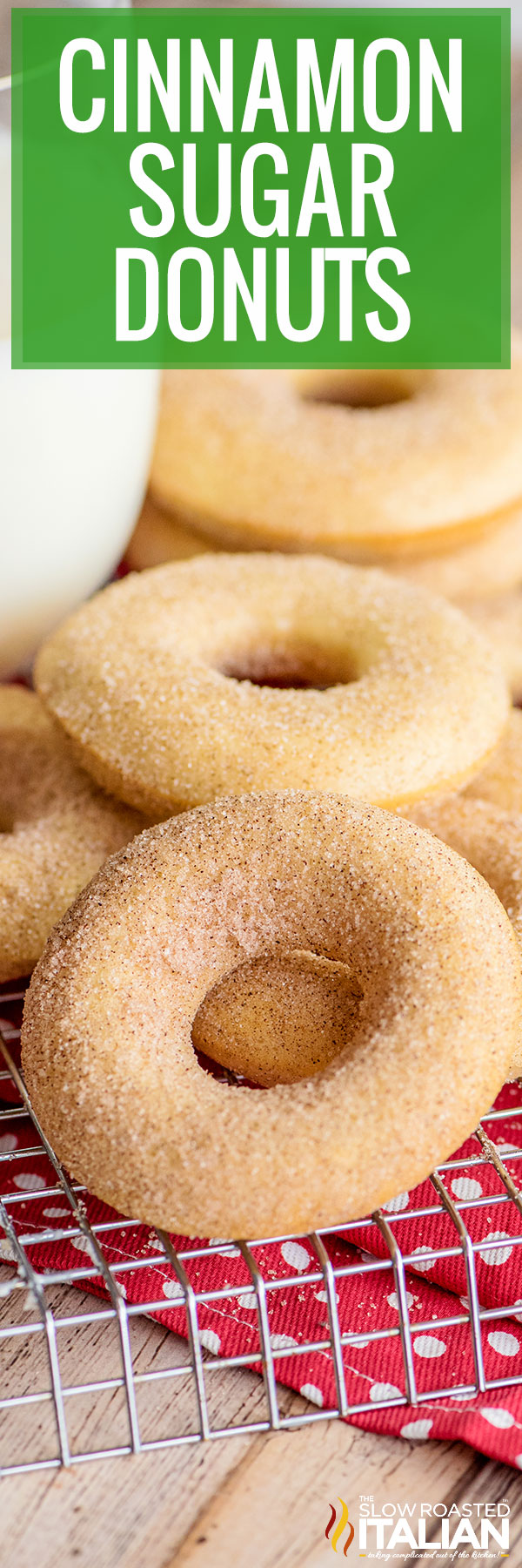 cinnamon sugar donuts closeup