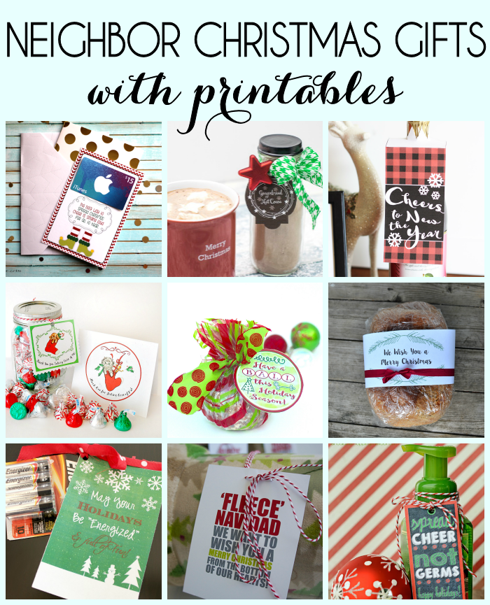 Christmas Neighbor Gifts with Printables
