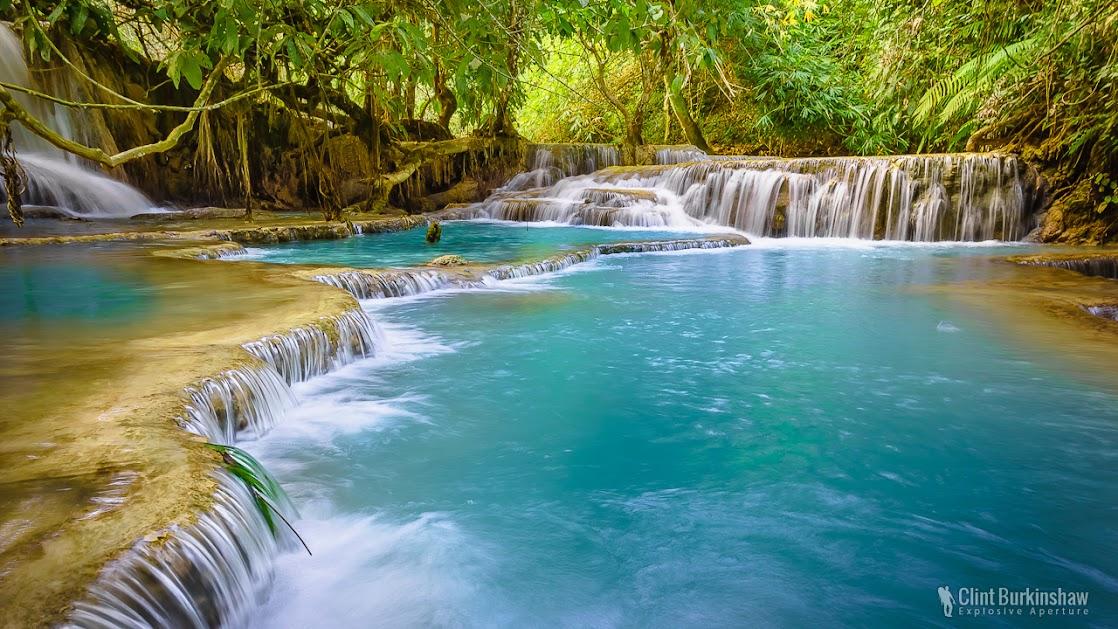 Tat Kuang Si Falls in Luang Prabang, Laos
