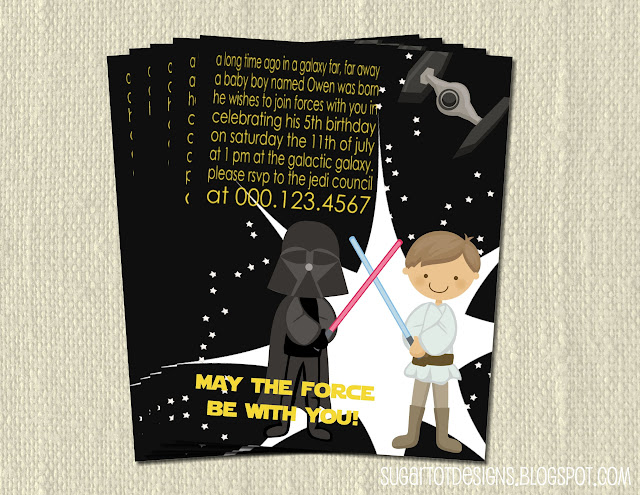 Sugartotdesigns star wars birthday party invitation ie cupcake toppers birthday banner favor tags bottle wrappers star wars filmwisefo