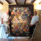 Jean-Pierre Cathelineau et Georges Quentin, une équipe de choc pour la mise en place de l'exposition. Chapeaux bas messieurs !