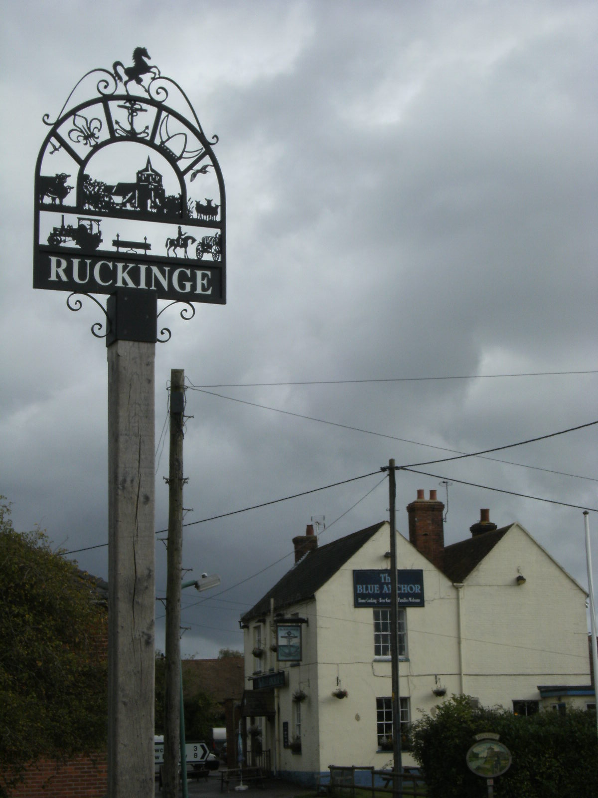 1010170052 Ruckinge village sign