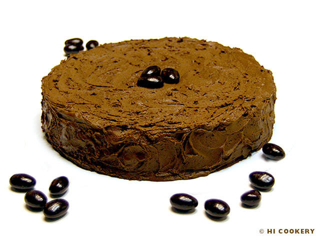 Chocolate Almond Liqueur Cake