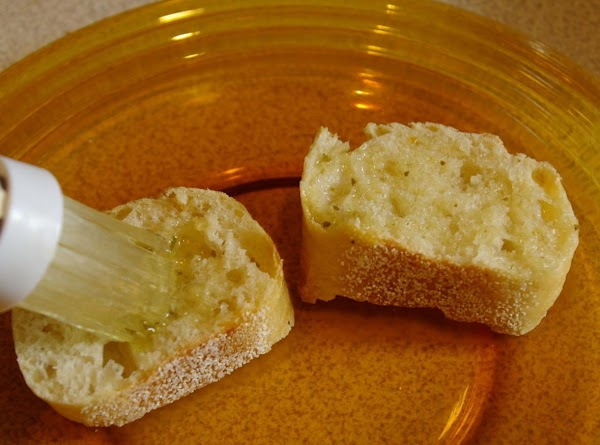 3. Slice bread into medium-thick slices (up to 12 depending on number being served...