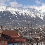 panoroma shot of innsbruck in Innsbruck, Tirol, Austria