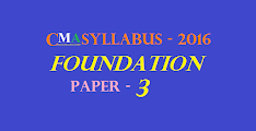 CMA Foundation Syllabus 2016 (Paper 3): Fundamentals of Laws and Ethics