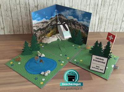 Geschenkbox Explosionsbox Überraschungsbox Helikopter Helikopterflug Rundflug