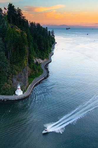Pacific Ocean from Lions Gate Bridge, Vancouver