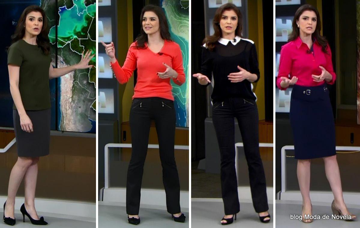 moda do programa Jornal Hoje - looks da Eliana Marques