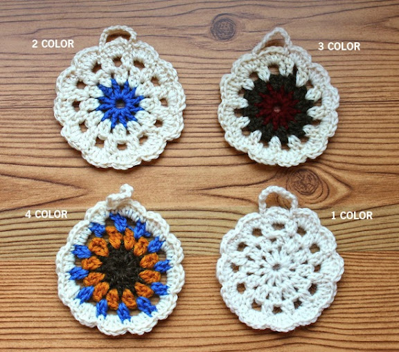 how to make diy crocheted granny square round ornaments crochet