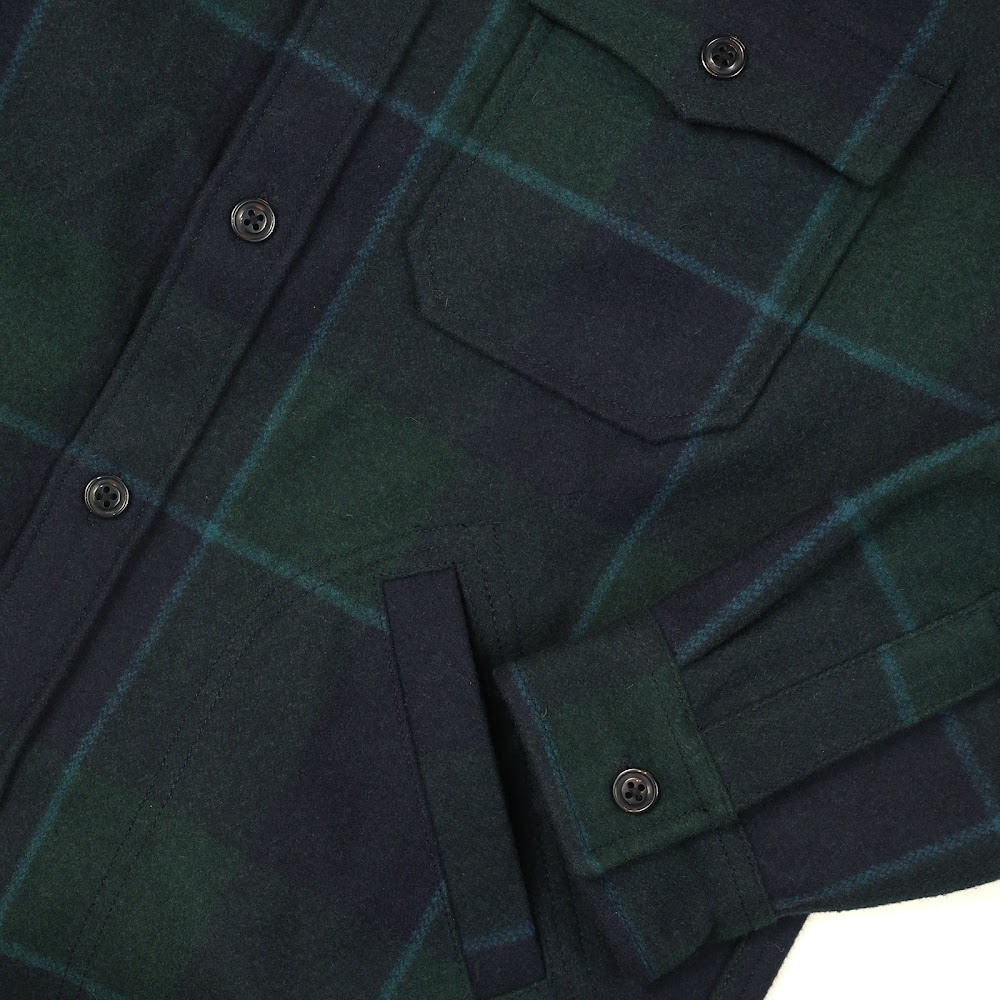 J.Crew [Wallace & Barnes] Shirt-Jacket in Wool Nightwatchmen Plaid