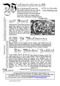 Cover of Leo Ruickbie's Book Walpurgisnacht