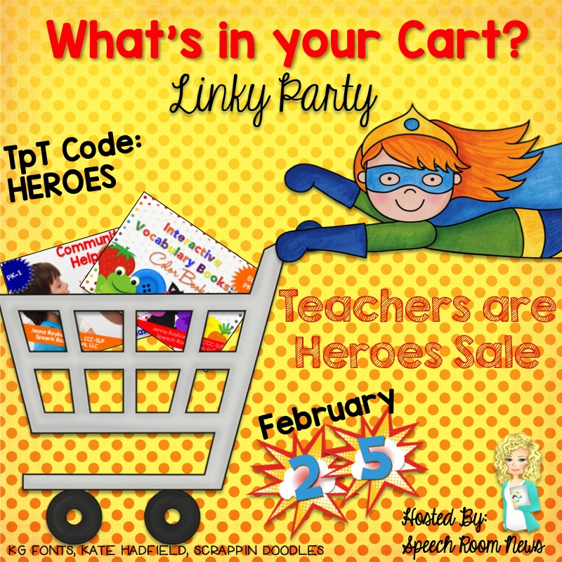 What's In Your Cart Linky Party for Teachers Are Heroes Sale 2015 image