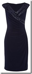 Lauren Ralph Lauren beaded neckline wrap dress