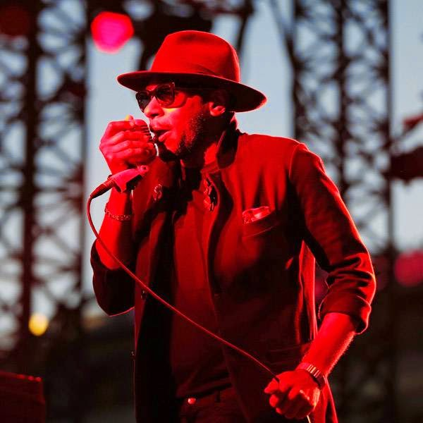 US rapper Mos Def, touring under the name Yasiin Bey, performs on stage during the Nice Jazz Festival on July 12, 2014 in Nice, southeastern France.
