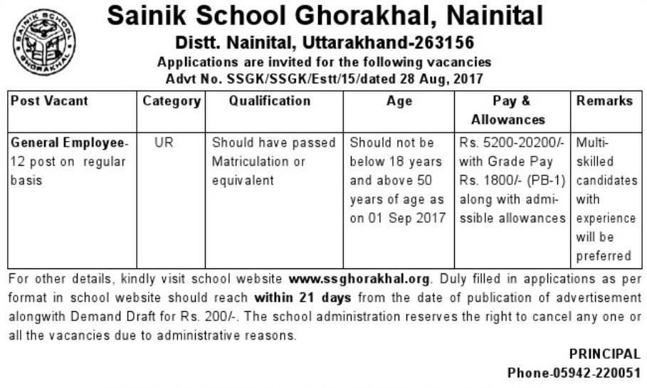 [Sainik+School+Ghorakhal+Advertisement+2017+www.indgovtjobs.in%5B2%5D]
