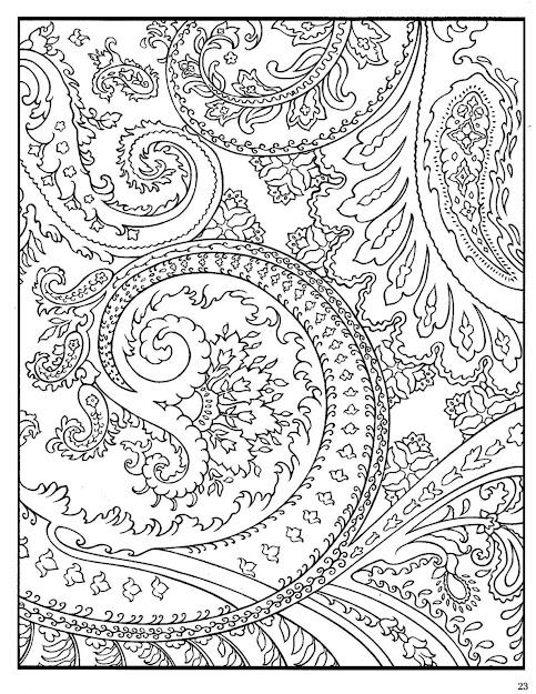 Paisley Designs Coloring Book  Bing Imagens