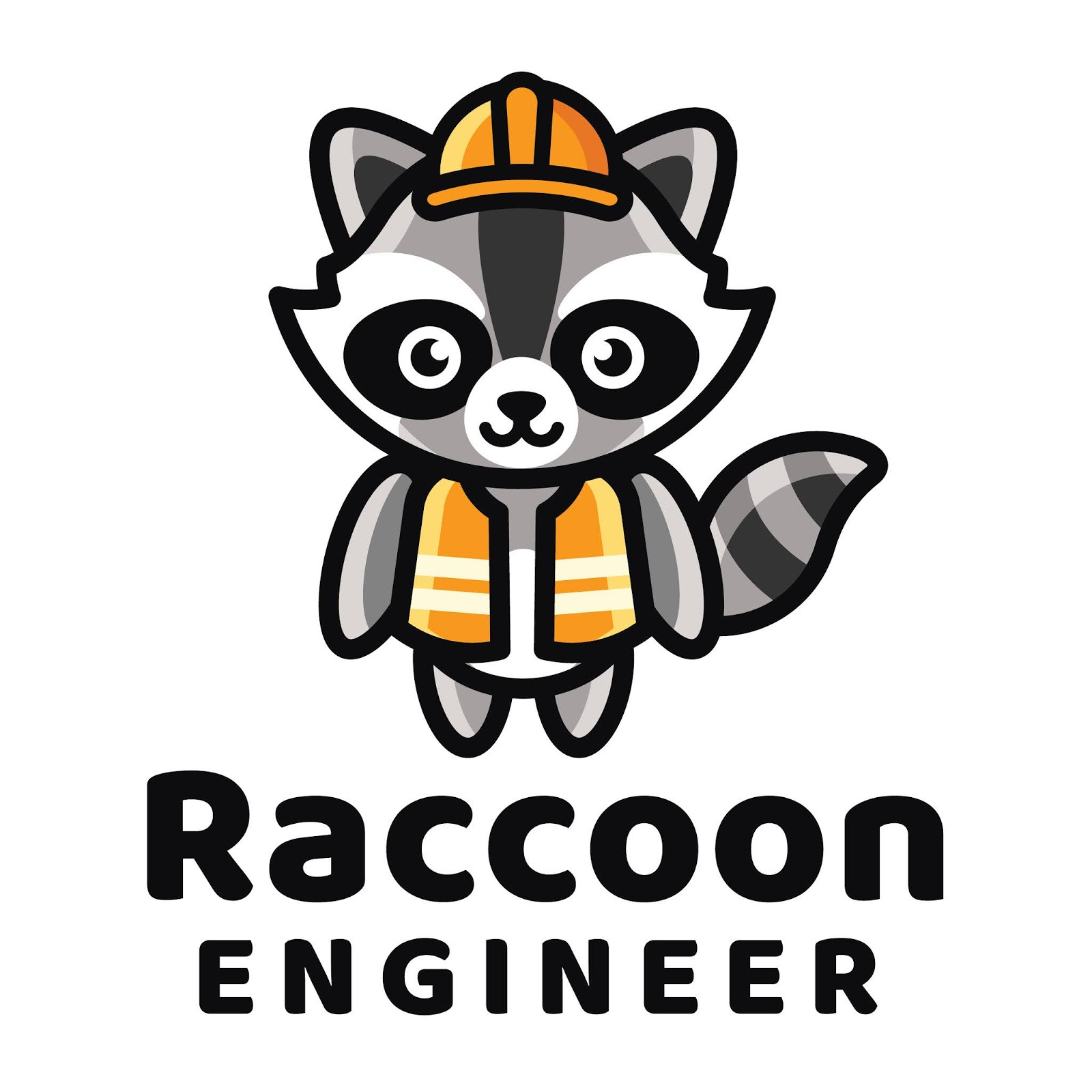 Raccoon Engineer Logo Template Free Download Vector CDR, AI, EPS and PNG Formats