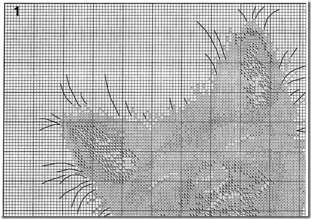 zorro con amapolas punto de cruz  (6)