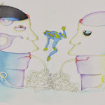 watercolour FRIENDSHIP or Ay-O and Emmett at the  Biennale in Venice.jpg