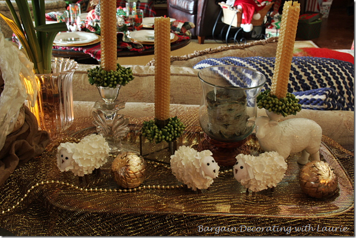 Christmas Decor on Family Room Buffet