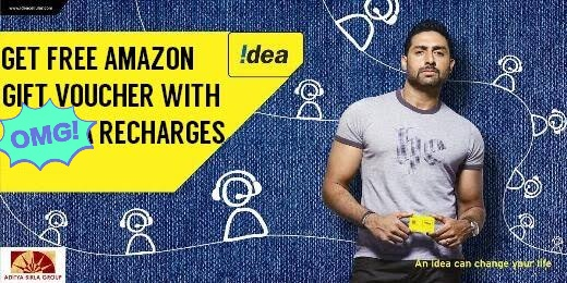 Idea/Vodafone - Get Rs 30 Amazon Gift Voucher on Recharge of Rs. 95 or Above