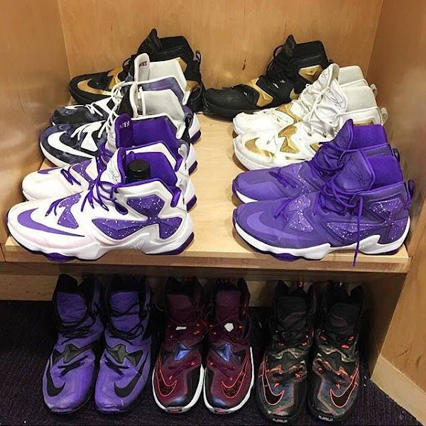 Ben Simmons Shows Off His Impressive LeBron 13 Collection