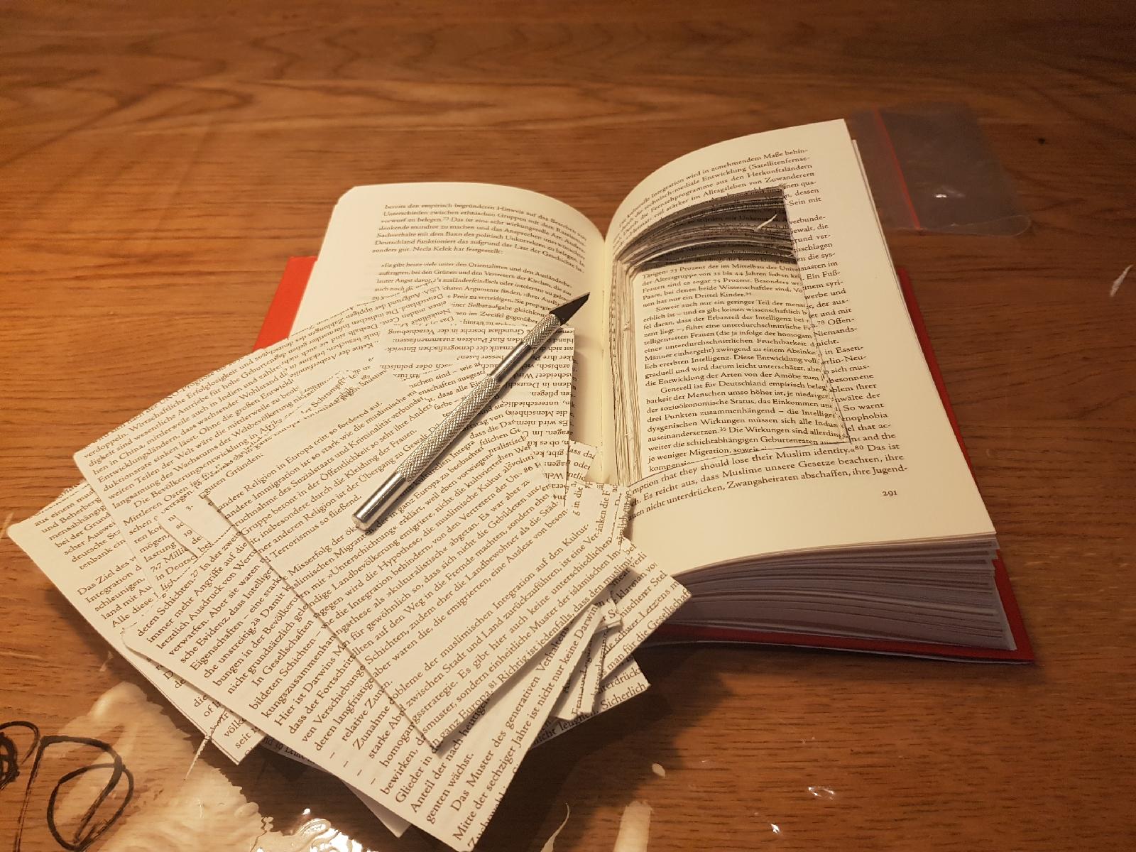 Basteln Buch Geheimfach