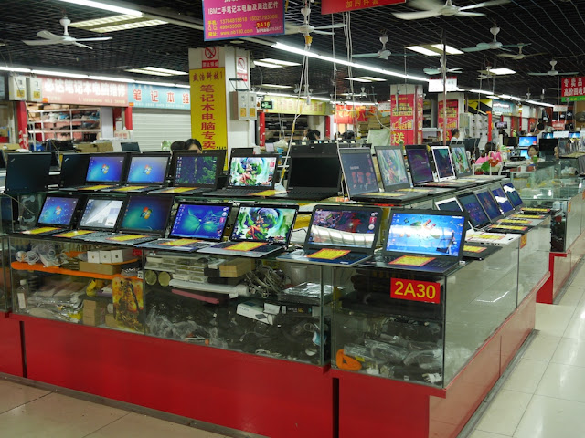 laptops for sale at the Shanghai Yinxiang Cheng