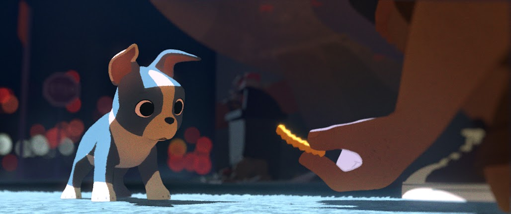 "The newest of the Disney shorts is ""FEAST"", showing in theaters before Big Hero 6"
