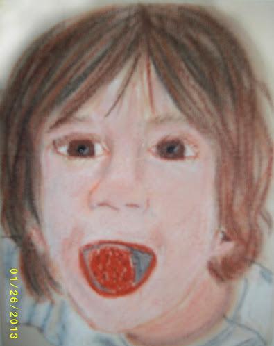 N conte portrait