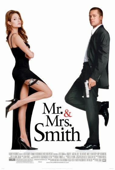 Poster Of Mr. & Mrs. Smith (2005) Full Movie Hindi Dubbed Free Download Watch Online At Alldownloads4u.Com