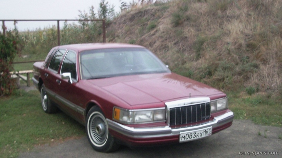 1997 Lincoln Town Car Sedan Specifications Pictures Prices