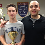 Joey Raskin Lantos from Cambridge, winner of the BU15 flight at the Fall Foliage Junior Gold Tournament, held at Dartmouth, October 2015