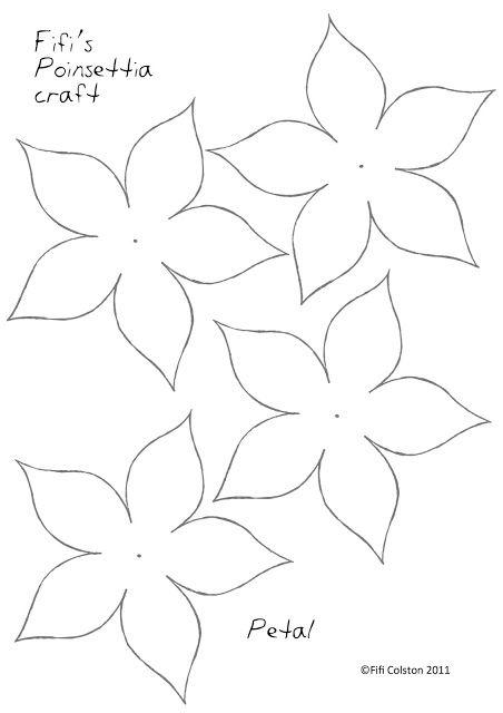 más y más manualidades: Como hacer nochebuenas de papel