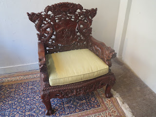 Vietnamese Carved Dragon Chair