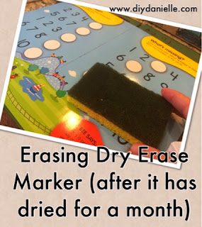 This is an easy way to clean off dry erase marker that has dried on a dry erase board or book.