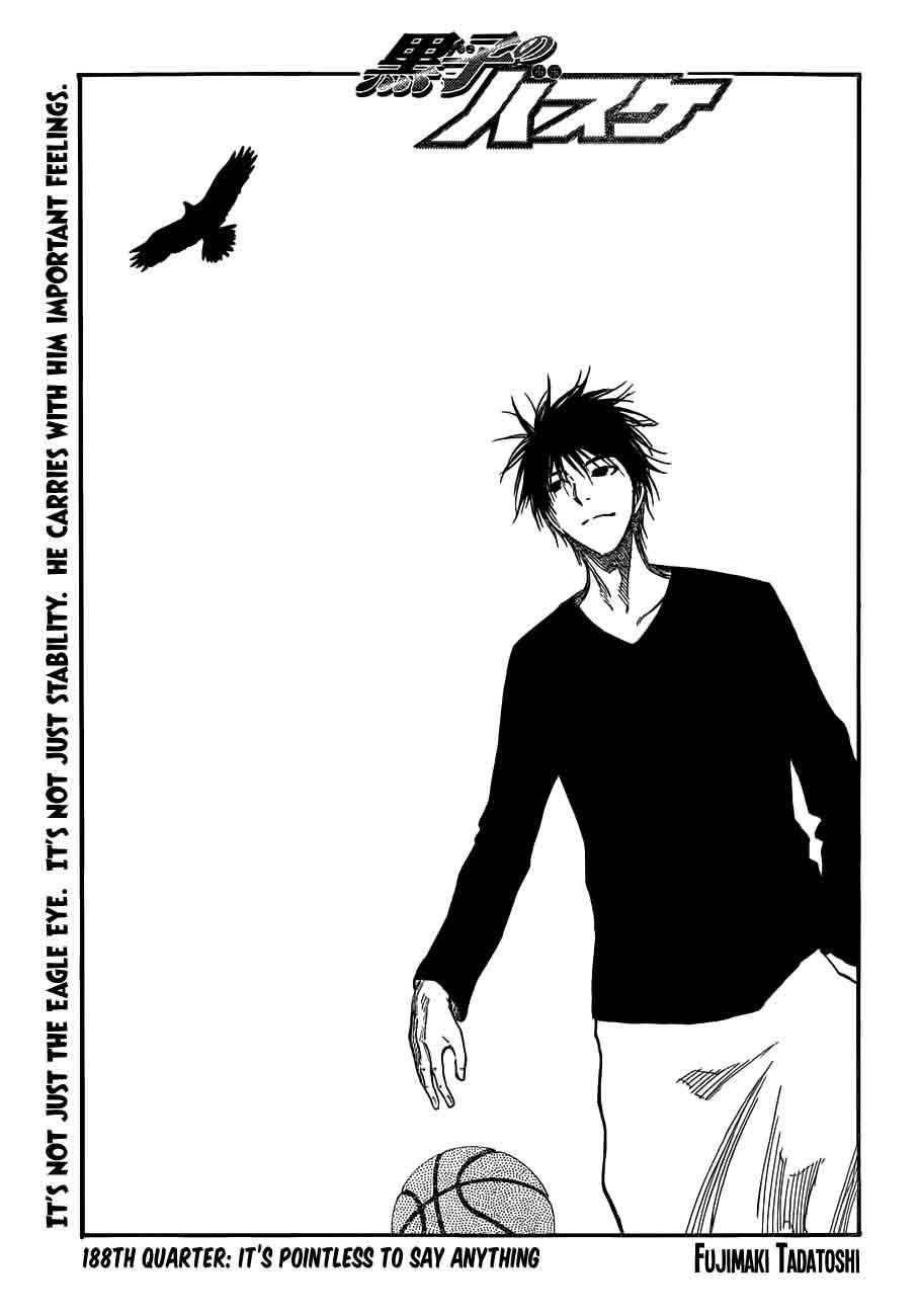 Kuroko no Basket Manga Chapter 188 - Image 01