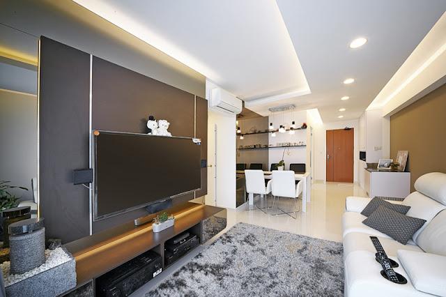 Hdb 4 room interior design singapore Contemporary Interior Design