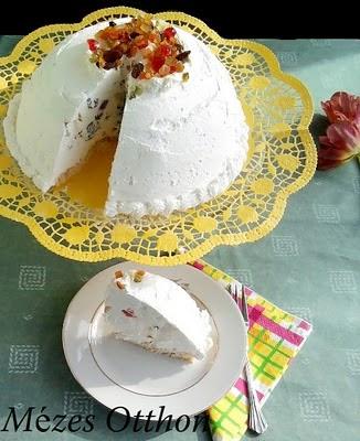 tejszínes túróbomba kandírozott gyümölccsel fotó